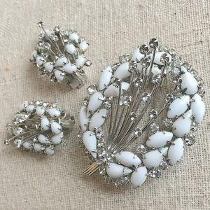 Vintage Brooch Earring Set Shooting Stars